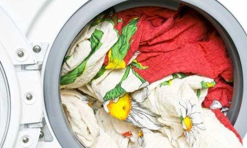 Waschmaschine voll beladen