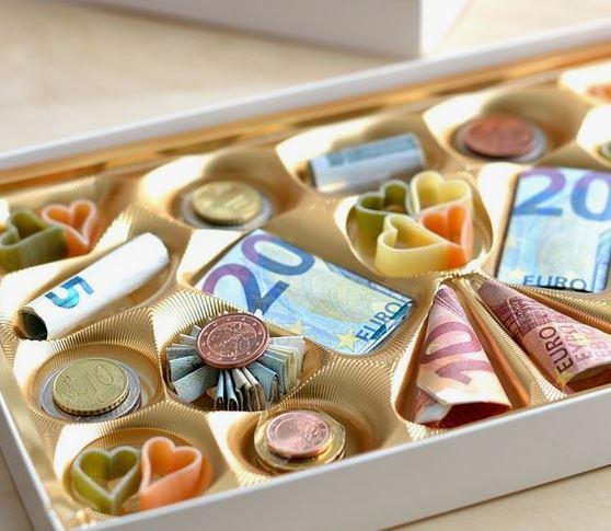 Geld Geschenke verpacken