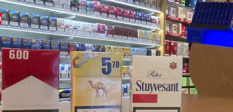 Zigaretten im Supermarkt Lidl
